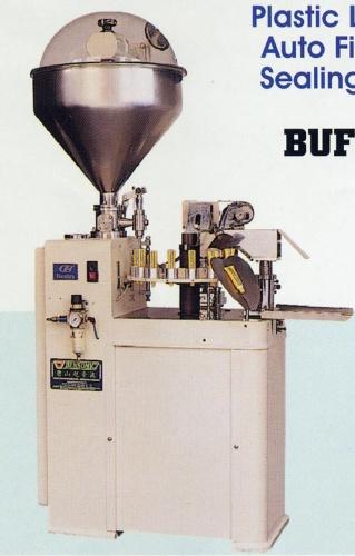 plastic laminate tube auto filling & ultrasonic sealing machine