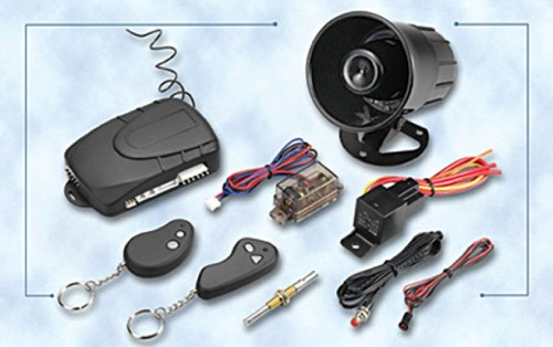 Intelligent Car Alarm System with central door lock relay built-in