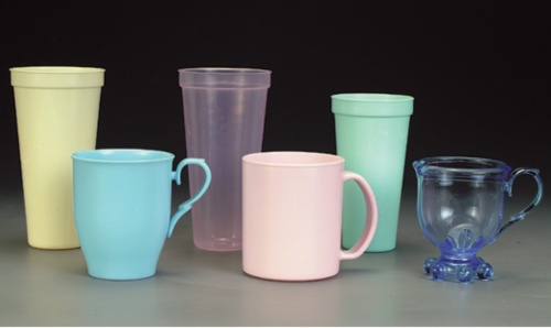 Colorful water cups