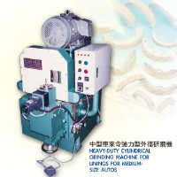 Heavy-duty cylindrical grinding machine for linings for medium-size autos