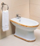 Bidet With Decorative Strip