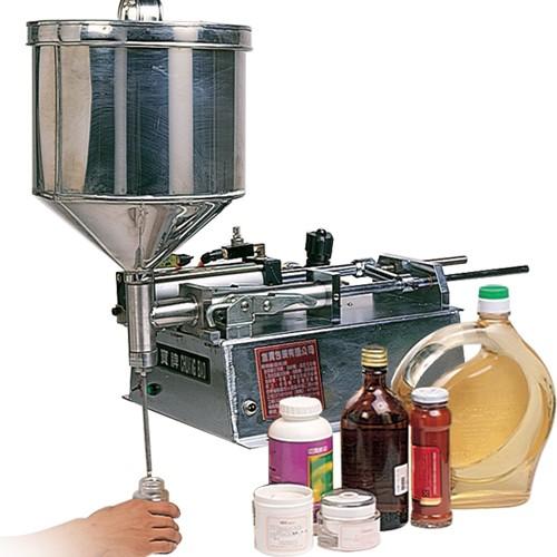 High-viscosity fluid filling machine