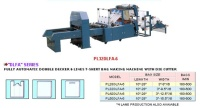 FULLY AUTOMATIC DOUBLE DECKER 6 LINES T-SHIRT BAG MAKING MACHINE WITH DIE CUTTER