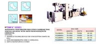 AUTOMATIC PERFORATED ROLLSTOCK GARBAGE BAG MAKING MACHINE WITH AUTO-REWINDER(WITH CORELESS).