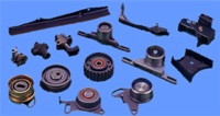 CHAIN TENSIONERS, CHAIN GUIDES, BELT TENSIONERS, IDLER