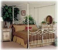 CAST BED WITH CANOPY