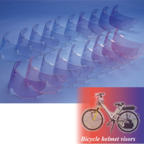 Bicycle helmet visors