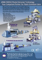 Cens.com Plastic Extruders JENN CHONG PLASTICS MACHINERY WORKS CO., LTD.
