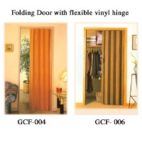 Folding Door with flexible vinyl hinge
