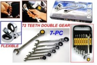 PRO-GEAR FLEXIBLE WRENCH 7PC SET