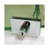 Cabinet swinging glass door plunger lock