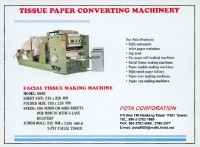 Facial tissue making machine