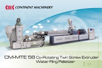 CM-MTE58 Co-Rotating Twin Screw Extruder and Water Ring Pelletizer