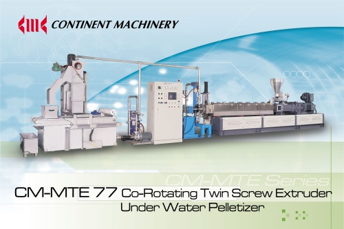 CM-MTE77 Co-Rotating Twin Screw Extruder and Under Water Pelletizer