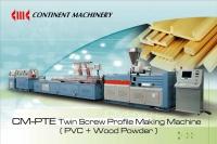 Cens.com CM-PTE平行式雙螺桿PVC+木粉異型材製造機製造機 世洲機械廠股份有限公司