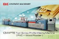 CM-PTE PARALLEL TYPE TWIN SCREW PVC AND SIMILAR WOOD PROFILES MAKING MACHINE