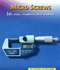 MICRO SCREWS IN STEEL, STAINLESS STEEL & BRASS