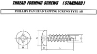 THREAD FORMING SCREWS(STANDARD)
