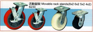 Movable rack stands