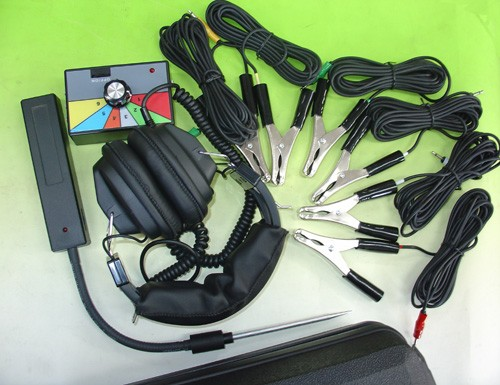 Combination 6 Channel Electronic Stethoscope Kit for Road Test, Under Chassis, Fuel Injectors * Unde