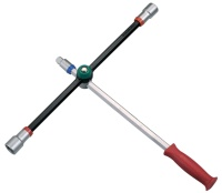 Foldable lug Wrench, Tire lever wrenches, Four-Way Wheel Wrench