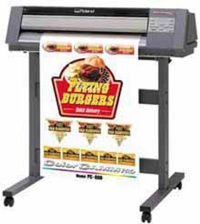 Color print and/or cut machine