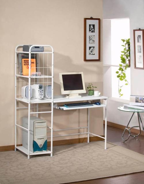 Computer desk with book shelf