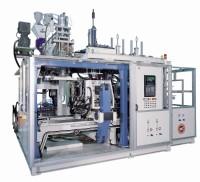 Continuous extrusion blow moulding machine