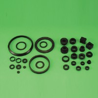 Rubber washers and bearing covers