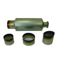 Titanium muffler and tailpipe