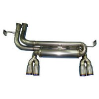Titanium muffler and tailpipe for BMW M3(E46)
