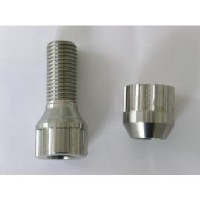 Titanium auto wheel bolt and nut