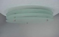 Round Frosted Glass Ceiling Mount