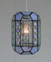 Cuboids-shaped Stained Glass Pendant Lamp