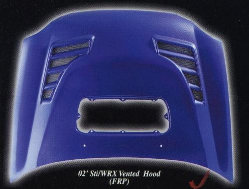 Sti/ WRX Vented Hood (FRP)