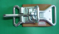 1-3/4 center latch with link and leather pad.