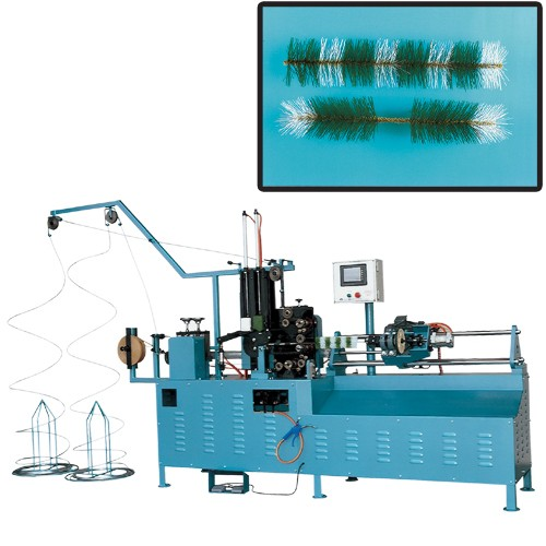 Two-color pine tree needle-forming machine
