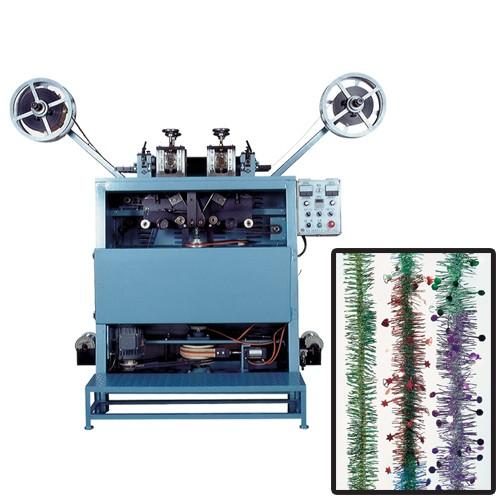 Tinsel garland making machine