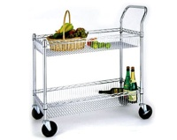Iron Wire Basket Trolley
