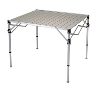 Aluminum Folding Table, Picnic Table, Metal Tubular Outdoor Furniture, Camping Equipment