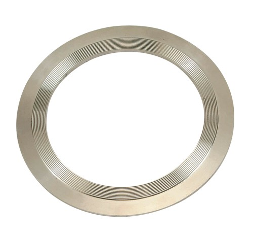 Flat serrated metal gaskets