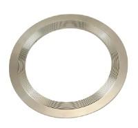 Flat serrated metal gaskets