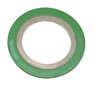 Spiral wound gaskets with outer- & inner-ring pipe flanges
