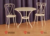 Cast-aluminum garden Table & Chair
