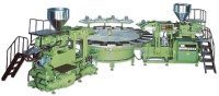 Automatic rotary type plastic footwear injection molding machine
