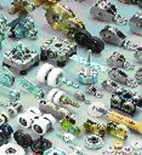 Ball bearing, rollers, pulleys convey wheel bearings.