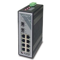 Industrial 7-port 10/100Base-TX + 2-slot 100Base-FX (SFP) Switch