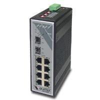Industrial 7-port 10/100Base-TX + 2-slot 100Base-FX (SFP) Switch