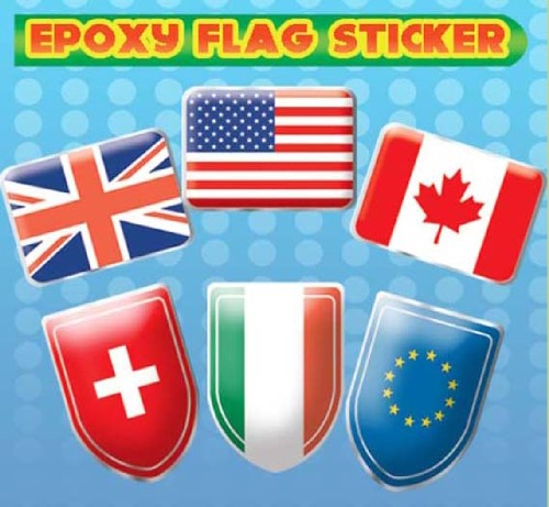 Epoxy Flag Sticker