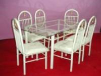 1+6稻草型餐桌椅
